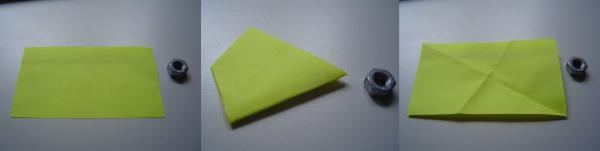Mini Faltanleitung Papierdrachen